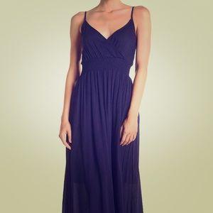 ✨NWT✨West Kei - Slight V Navy Maxi Dress - Medium